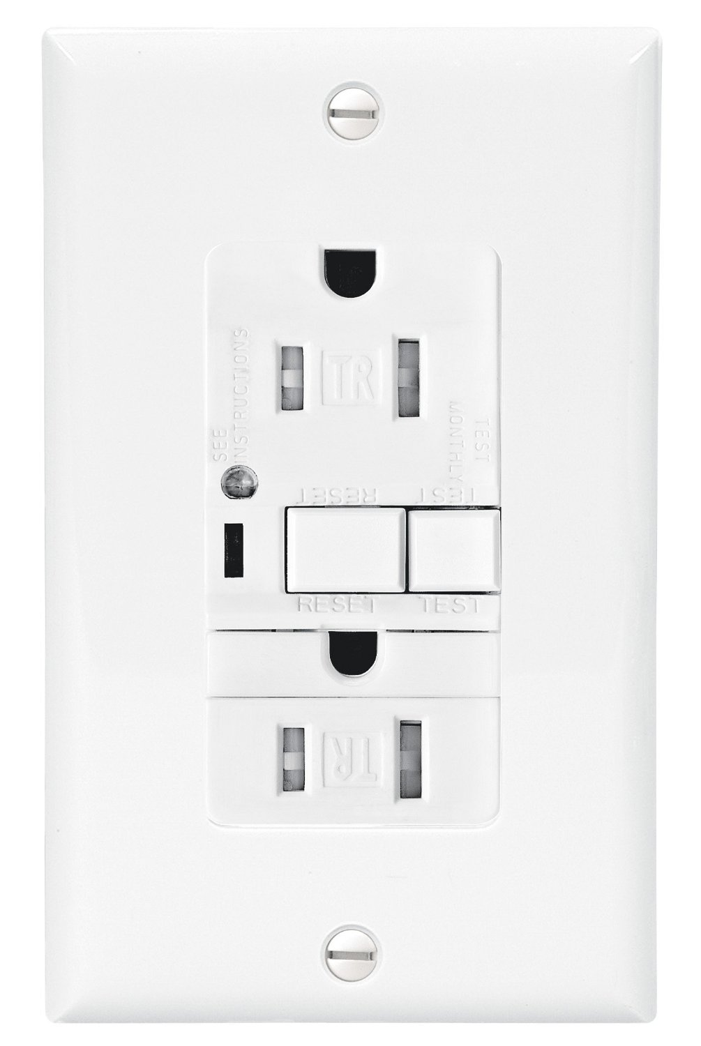 Cooper Wiring Devices TRVGFNL15A Tamper Resistant 15-Amp Combination GFCI  Receptacle with Nightlight, Almond Finish - Electrical Boxes - Amazon.com
