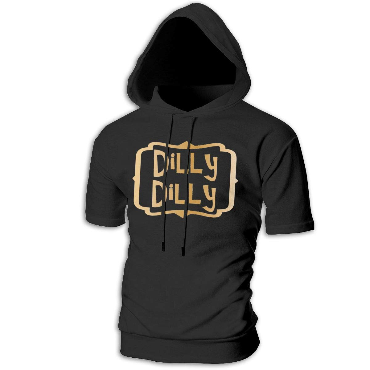 MZ-HY Dilly Dilly Mens Cool Short Sleeve Hoodie Pullover Soft Hooded T-Shirt