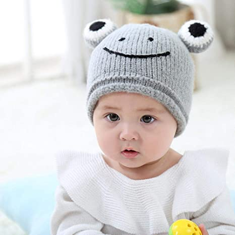 Amazon.com  Myzixuan Baby hat Autumn Winter Ear Wool hat 6 Months-3 ... ab37fefdd25
