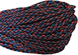 ThreaDelight 550 Paracord/Parachute Cord, 100 Metters(328 feet), 800 lb Tensile Strength, Type III Paracord, 7 100% Nylon Core Strands Each Twisted from 3 Individual Strands, 5/32(4mm) Diameter Poker