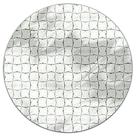 Squared In Directions Round Tablecloth: Small Dining Room Kitchen Woven Polyester Custom Print (Squared Round Dining Room Table)