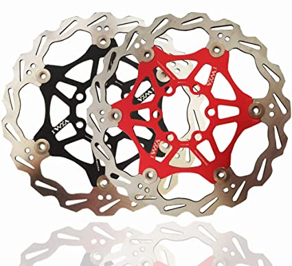 MTB VERDE mountain bike BMX Maso 2PCS Rotore flottante per freno a disco da bicicletta 160mm con 6 bulloni per bici da strada