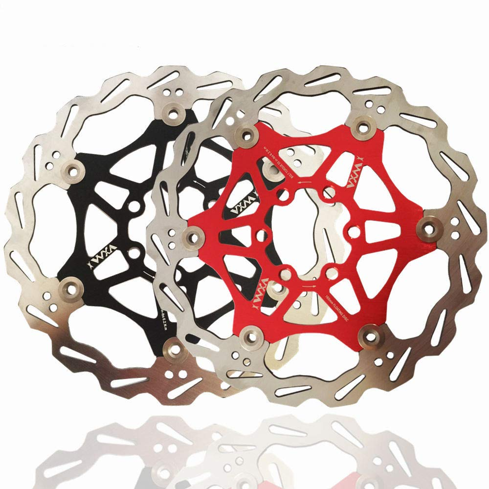 Fahrrad Scheibenbremse Rotor Für die meisten Fahrrad Rennrad Mountainbike BMX MTB 160mm 180mm 203mm Schwimmende Scheibenbremse Rotor 6 Schrauben Aluminiumlegierung Floating Bremsscheibe vorne Rotoren