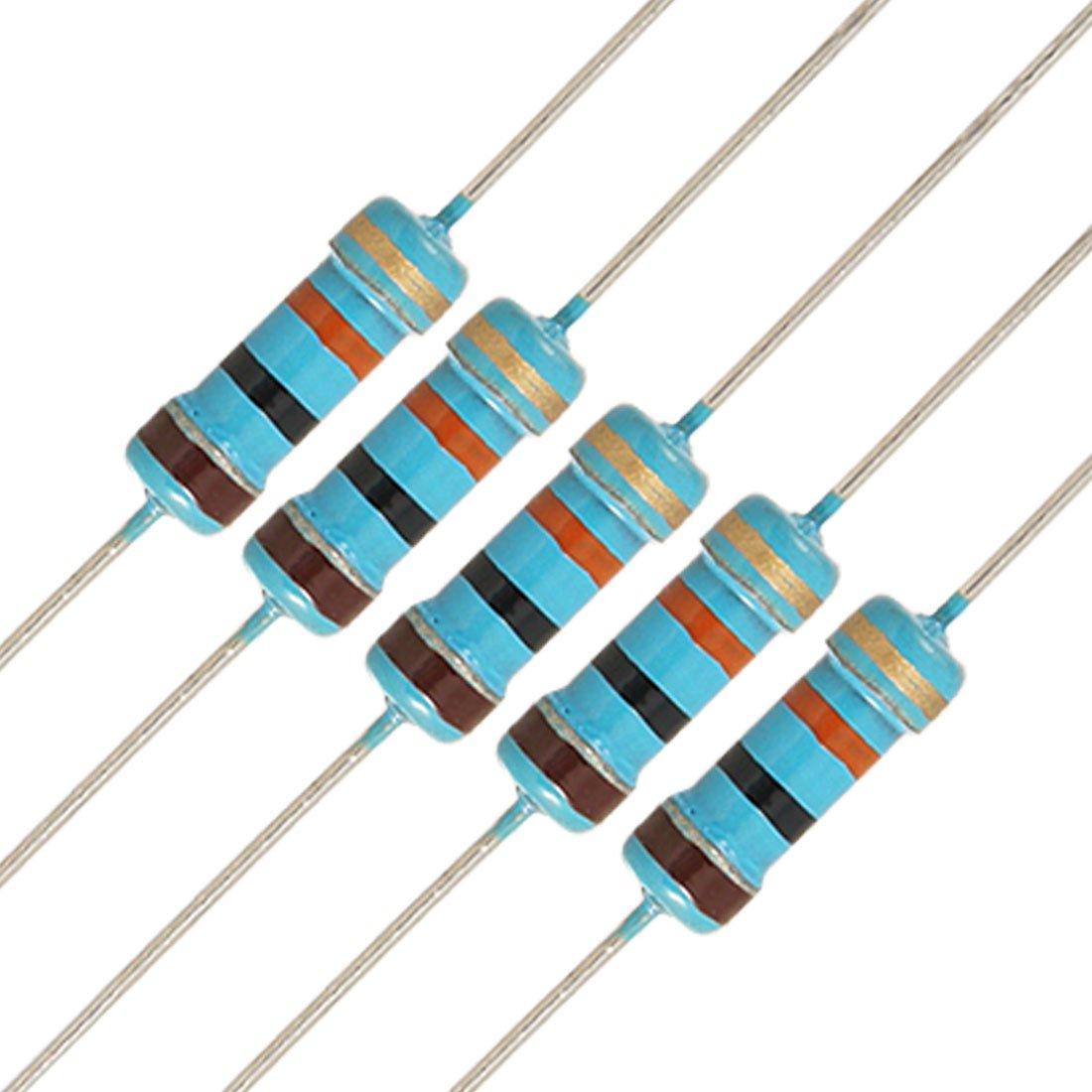 RESISTOR CARBON COMP 1//2W 10K Resistors Fixed Resistors-Pack of 5