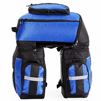 Bolsa de ciclismo Maleta de asiento trasero para bicicletas de gran capacidad como equipaje de viaje ...