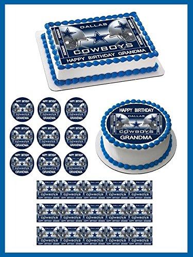 Dallas Cowboys 2 Edible Cupcake Toppers - 2