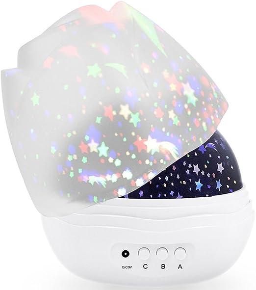 MINGKIDS Lámpara LED giratoria 360 grados Luz romántica de ...