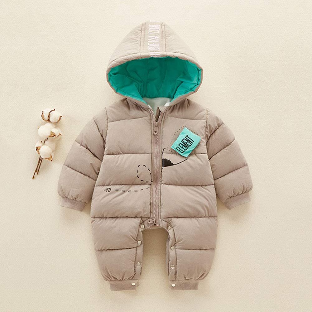 M/&A Newborn Baby Girls Boys One Piece Warm Puffer Snowsuit Romper