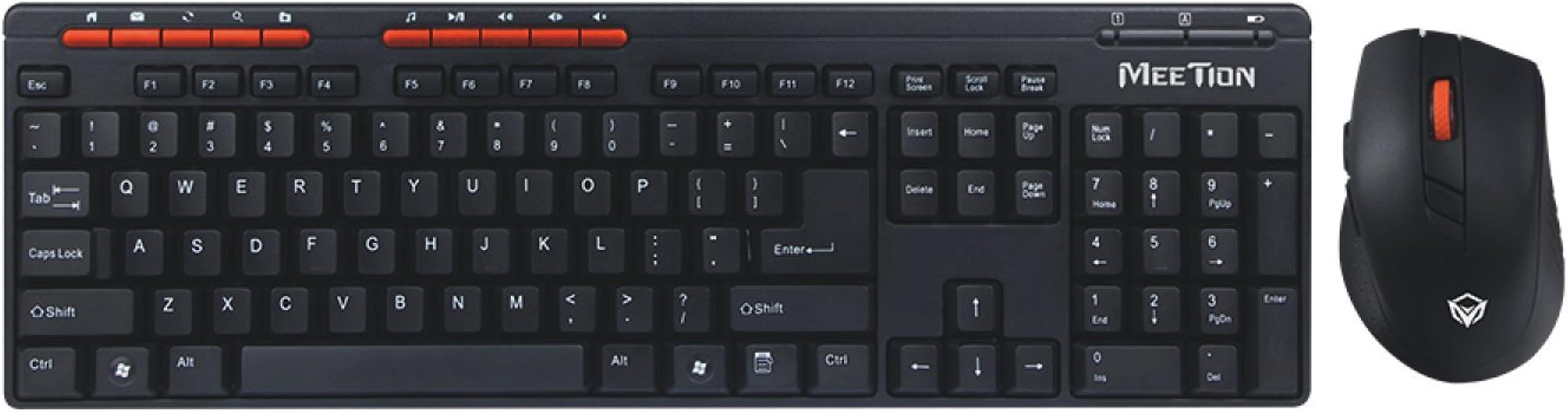 MEETION Pack de teclado y ratón inalámbricos, Teclado Oficina+ ...