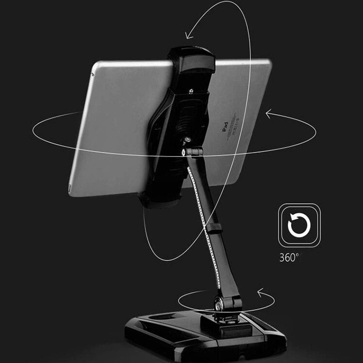 Living Room Aishanghuayi Mobile Phone Holder Suitable For Car Charging And Non-slip Mobile Phone Holder Adjustable Aluminum Desktop Phone Tablet Holder Mobile Phone Bedroom Bedside Tabletop Blac