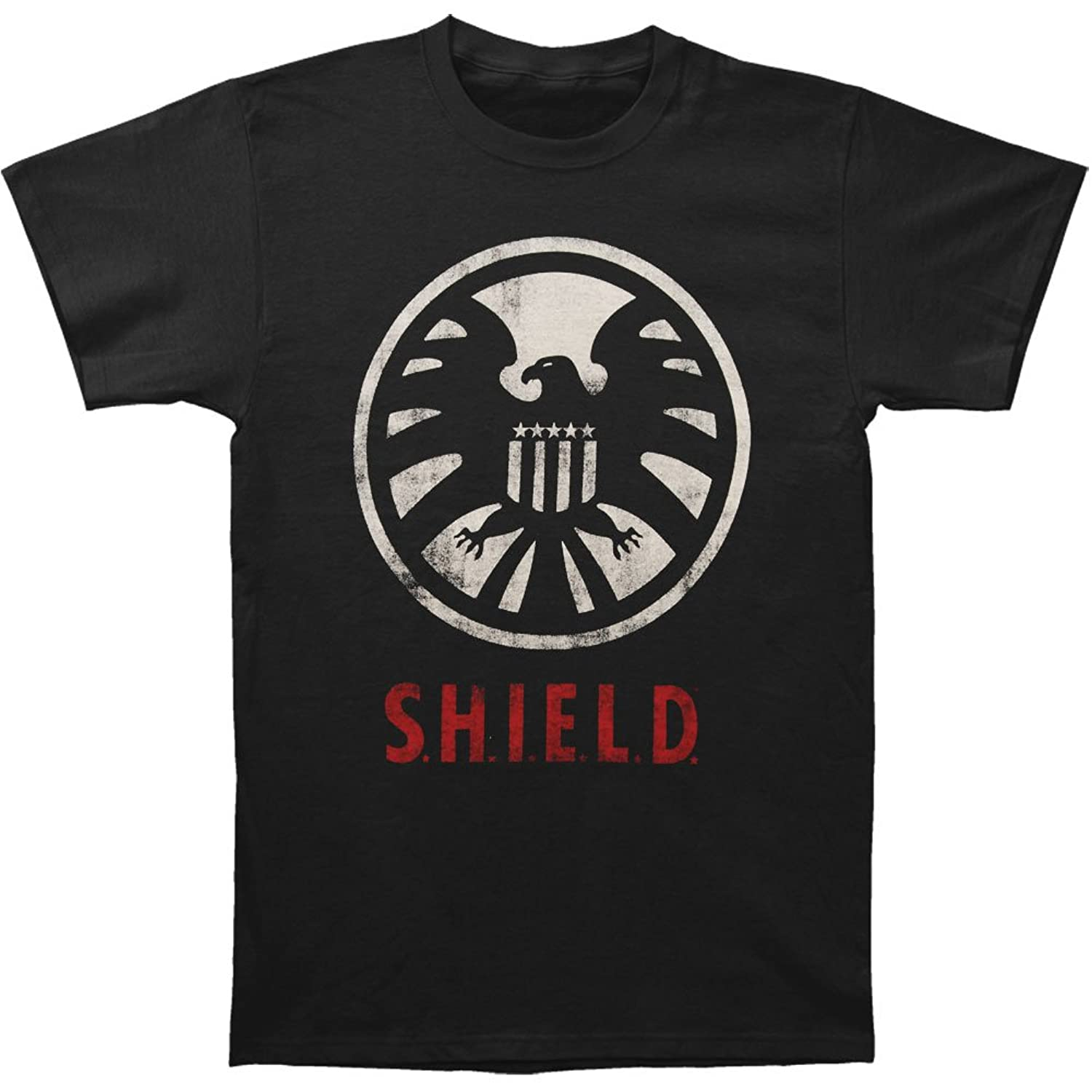 S.H.I.E.L.D. - Distressed Shield Soft T-Shirt Black