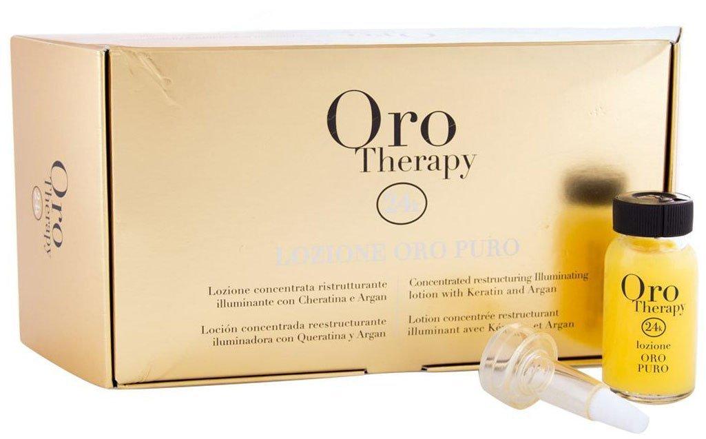 FANOLA ORO THERAPY Lozione Oro puro–concentra Ted Restructuring Illuminating Lozione with cheratina and Argan 12X 10Ml, 120ML 8032947866304