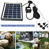 cheerfullus Solar Panel Water Fountain Solar Water Pump with 4 Sprinkler Heads for Bird Bath,Small Pond and Water Circulation