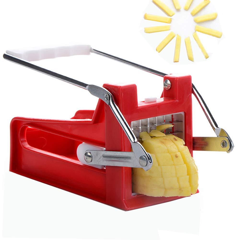 Manual Potato Crusher - Home kitchen Potato Hand Push Chip Machine Best for Chips by TMGJ