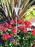 TWO Solar Lily Flower Garden Stake Color Change Light set of 2