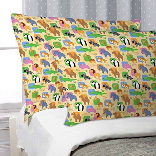 ArtzFolio AZ African Animals Pillow Cover Cases Satin Fabric 27''x18'';SET OF 2;Without Filler by ArtzFolio