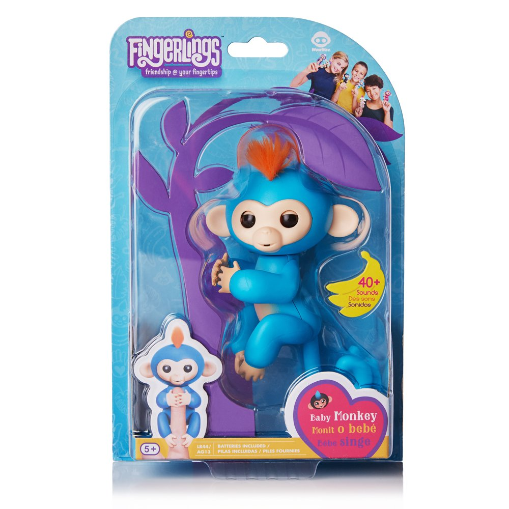 Fingerlings - Interactive Baby Monkey- Boris (Blue with Orange Hair) By WowWee by WowWee (Image #9)