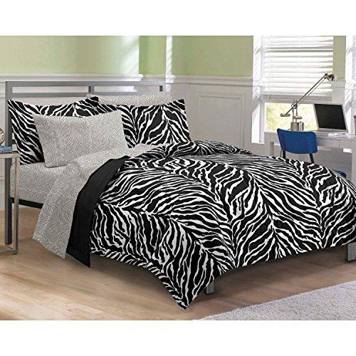 zebra print comforter full size - 5