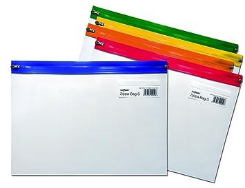 25 x Snopake A4 Zippa Plástico Top Zip Fuerte Almacenamiento Bolsas de Archivador S Clásico