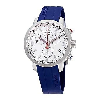 Amazon Com Tissot Prc 200 White Dial Men S Chronograph Watch T055