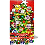Christmas Tree Countdown Advent Calendar, Filled with Solid Premium Milk Chocolate Presents (1 Pack)