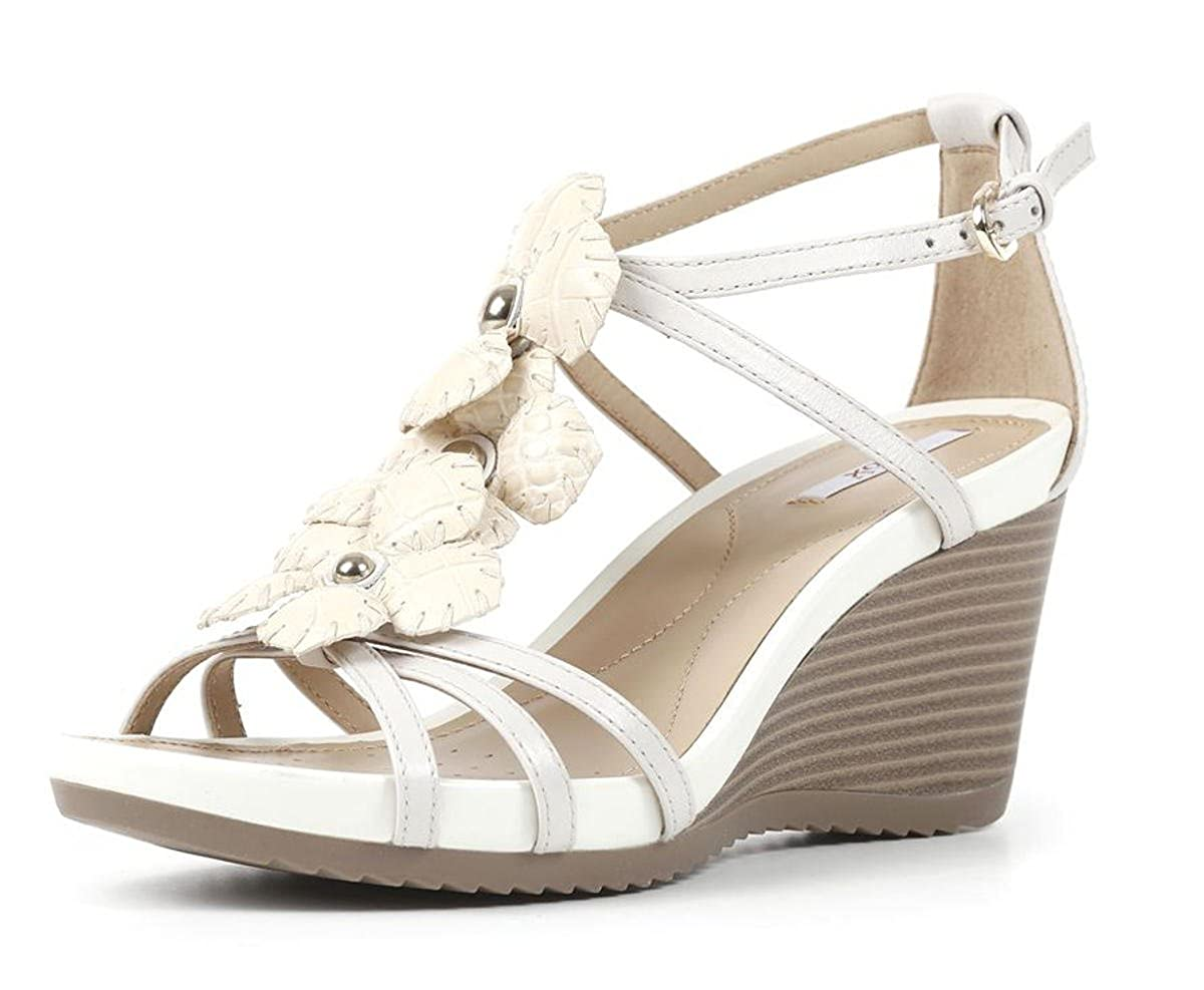f9ff18930c7 Geox D New Roxy D52P3E Sandal EU Size 36 Off White Leather  Amazon.co.uk   Shoes   Bags