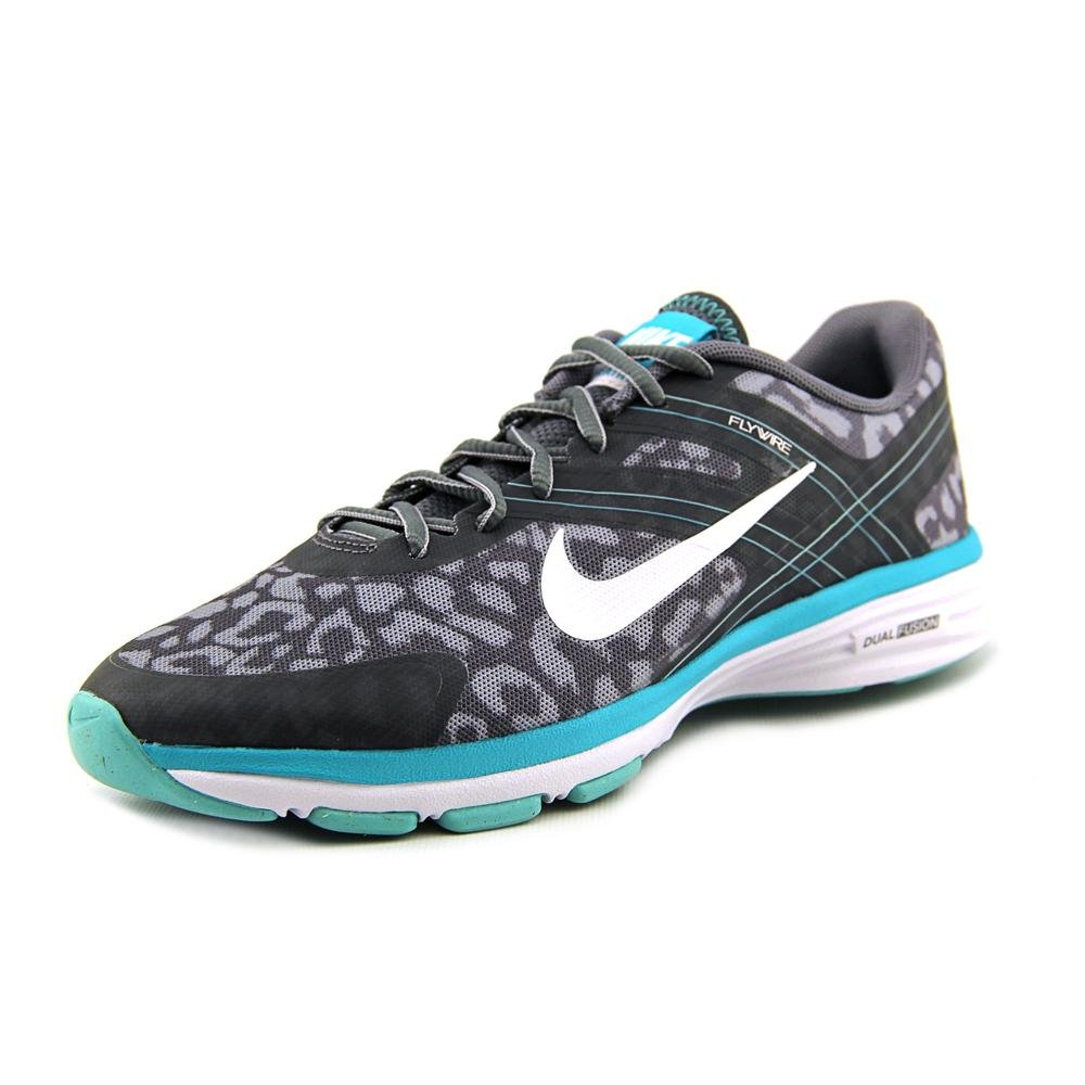 Nike The Womens Dual Fusion TR 2 Training Shoe Black Dark Grey Bright  Magenta Red Violet f34c215ca