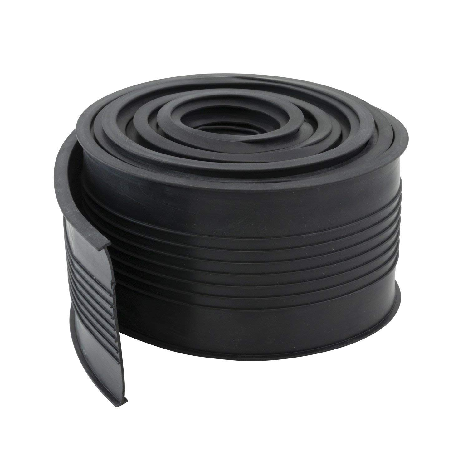 Water Barrier Seals 5//16 T Ends 3 3//4 W x 20 ft L GDS-BK-20FT Black Bottom Replacement Rubber 5//16 T Ends 3 3//4 W x 20 ft L Houseables Garage Door Seal Weather Stripping Gasket Guard Threshold Sealer Weatherstrip Insulation Trim