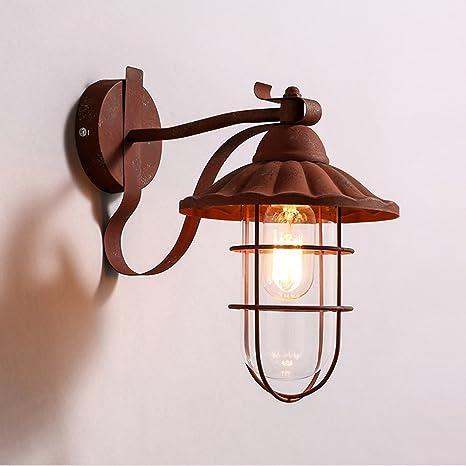 CCYYJJ Ahorro De Energía La Lámpara De Pared Ajustable- American Retro Hierro Eólica Industrial Lámpara