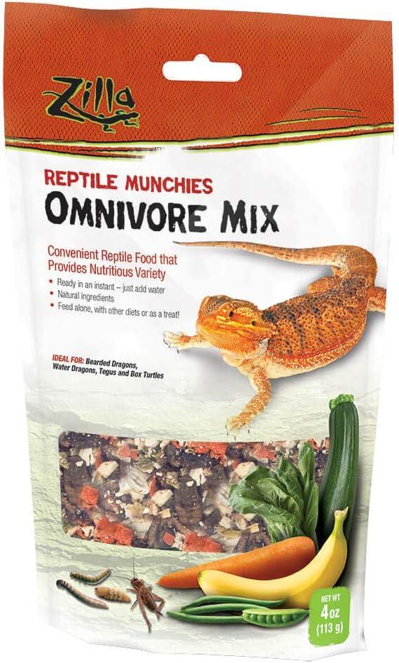 Zilla Reptile Food Munchies Omnivore Mix, 4 Ounces