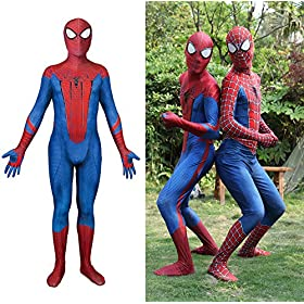 - 61UXZLza 2BRL - Riekinc Lycra Zentai Halloween Cosplay Costumes 3D Style Audlt/Kids