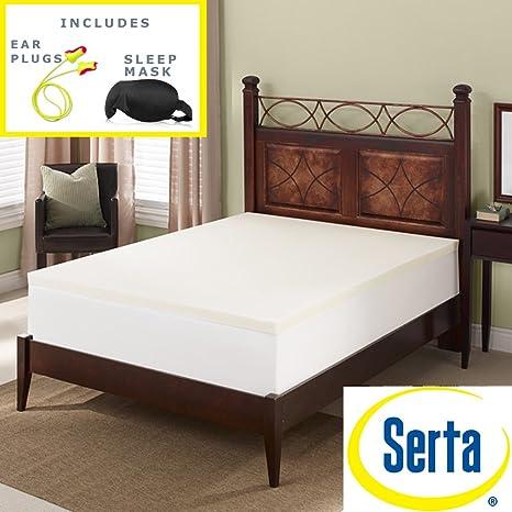 Serta Deluxe (memoria colchón de espuma Topper