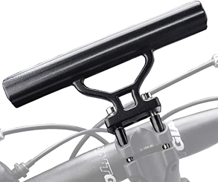 Bicycle Bike Handle Bar Extension Bracket Mount Phone Holder for Light Stopwatch