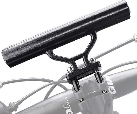 Bike Bicycle HandleBar Lamp-Bracket Holder Extension Extender Mount Black Useful