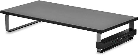 DeepCool M-Desk F2 Hub Supporto per Monitor e Laptop 4 Porte USB 2.0 Desktop Monitor Elevator Audio//Microfono