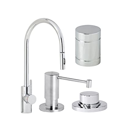 Waterstone 5400 4 Ap Parche Single Handle Kitchen Faucet With Pull