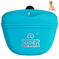 Petacc Pet Training Bag Silicone Dog Training Pouch Portable Pet Treat Pouches with Clip and Magnetic Closing