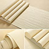 ELEOPTION 3D Embossed Stereoscopic Wall Effect Wallpaper DIY Waterproof Modern Murals Delicate Surface Wall Stickers Home Decor for Living Room Bedroom Kitchen (Forrest Self-Adhesive (Beige))