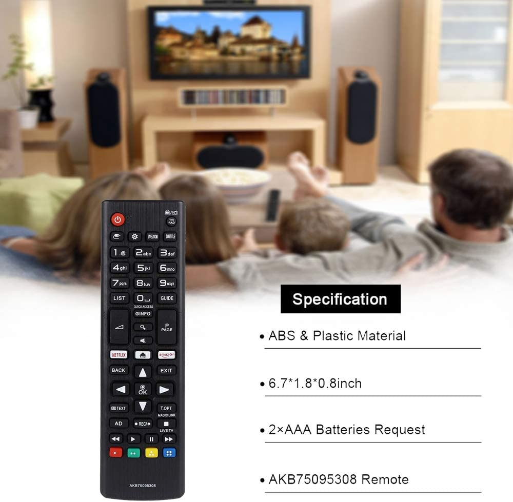 Alkia Remote Control Compatible Replacement for LG AKB75095308 ...
