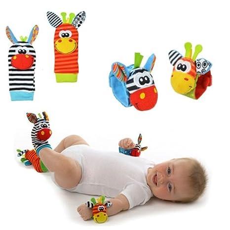 AIUIN Baby Wrist and Socks - 4PCS Baby Wrist Socks Rattles Toy (2 ...