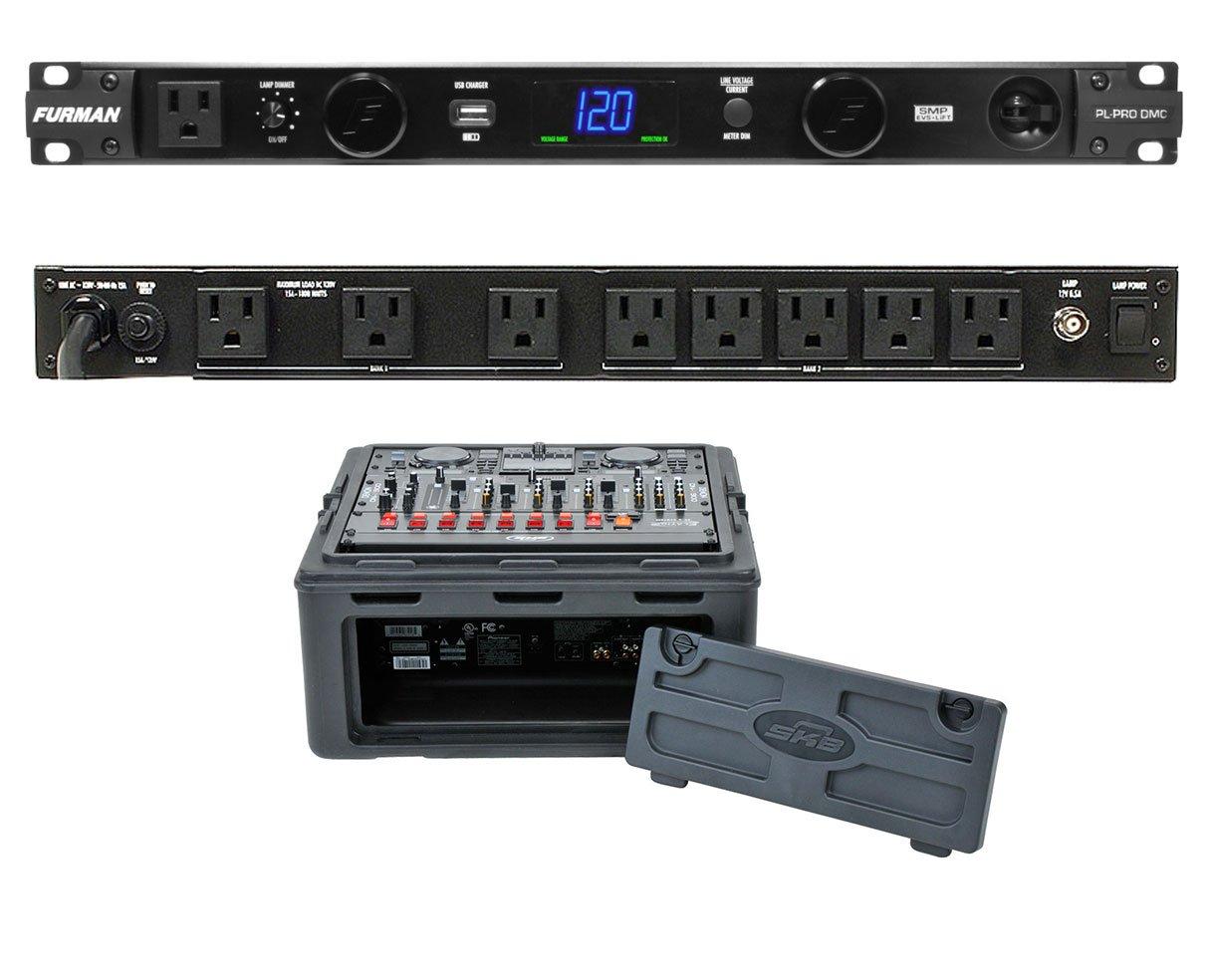 Furman PL-Pro DMC 20 Amp Power Conditioner + SKB 1SKB-R102 10U x 2U Slant Combo