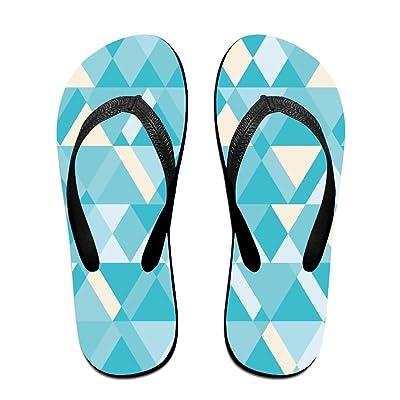 1a3816ff1044 Abstract Geometric Pattern Fashion Unisex Flip Flops Sandal Summer Beach  Slippers For Women Men