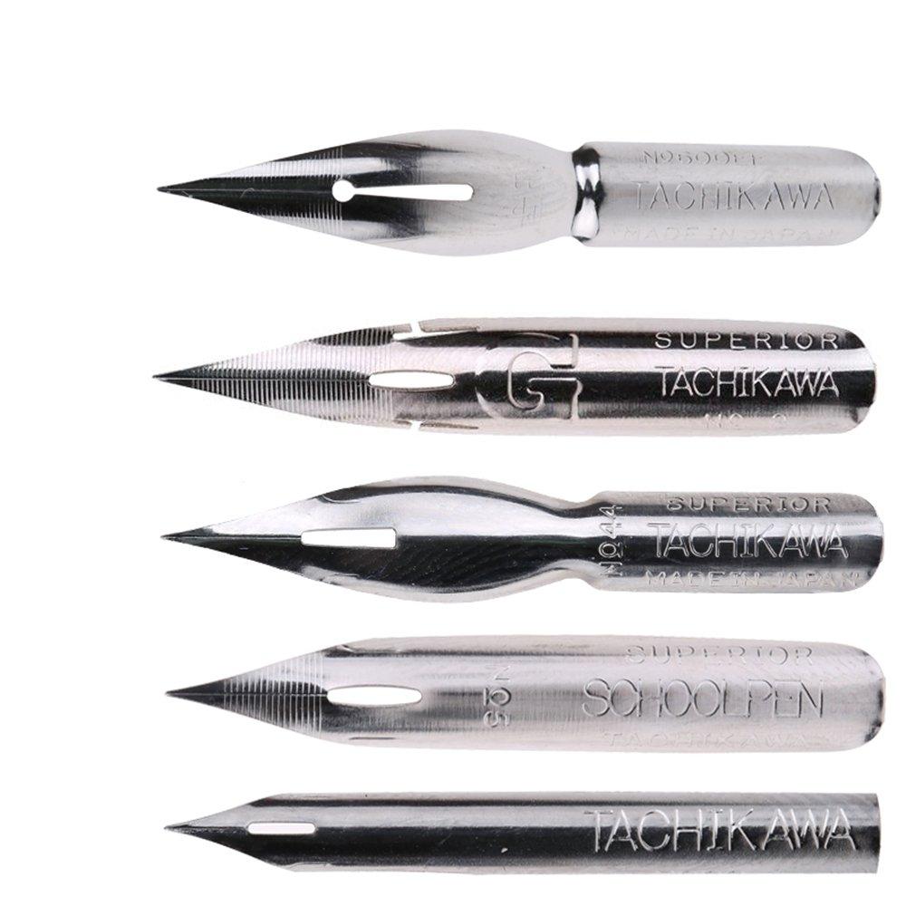 MyLifeUNIT Tachikawa Comic Pen Nib Set - 5 Nibs TP16QH057