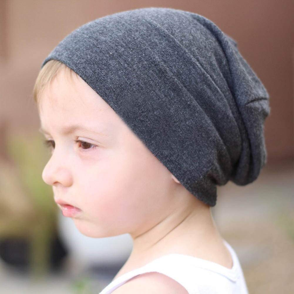 Baby Beanie Hat Cotton Skull Caps Cool Knit Slouchy Hat for Toddlers Kids  6-60 Months ... 1e2af12568f9