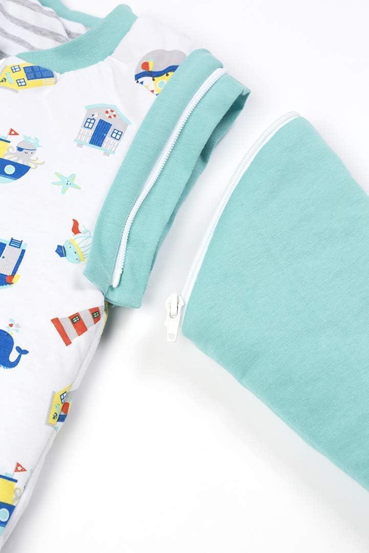 Slumbersac Reversible Sleeping Bag with Long Removable Sleeves 2.5 Tog AOP Cars 6-10 years//150cm