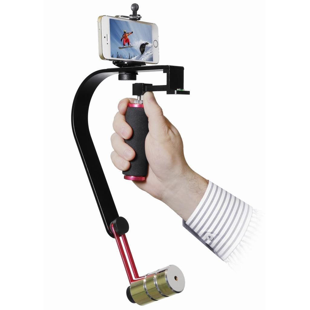 Polaroid Steady Video Action Stabilizer System For GoPro Smartphones Cameras /& Camcorders Small SLRs Smartphone Mounts GoPro Includes Tripod