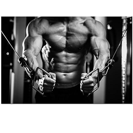 Amazon com: Visual Art Decor Black and White Bodybuilder