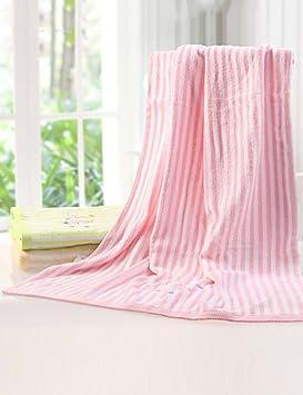 LQCHUAJIA Toalla de baño Las toallas absorbentes del algodón rayan las toallas grandes suaves y prácticas