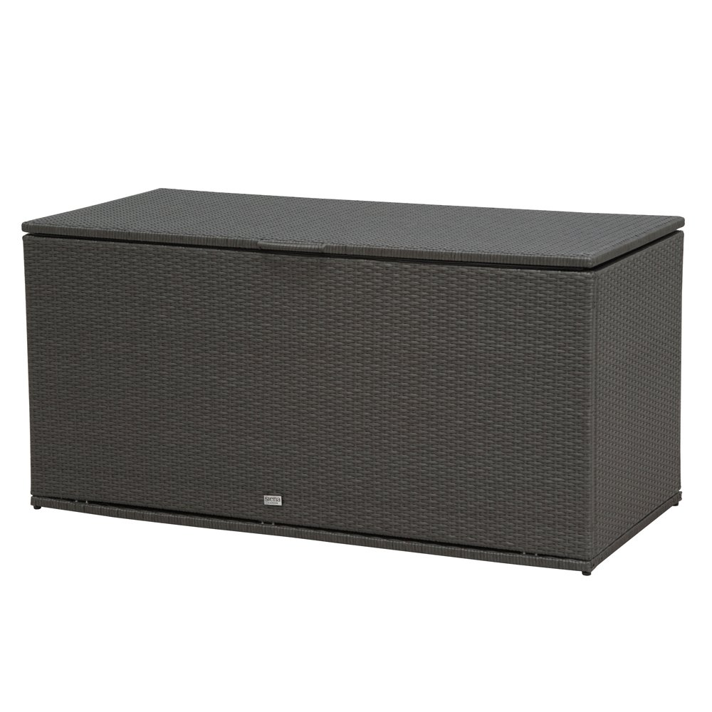 Siena Garden 936804 Kissenbox Cadiz Aluminium-Gestell Gardino®-Geflecht titan Mit Hydraulik-System