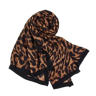 Yvelands Soldes Femme L Hiver Imprimé LéOpard Style Simple ÉCharpe Foulard  (marron,Free Size)  Amazon.fr  Vêtements et accessoires 961eda7eeb6